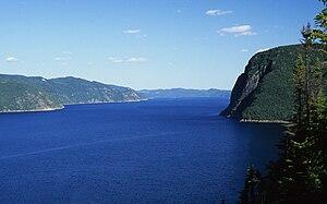 Saguenay Fjord National Park - Image: Vue du Cap trinité près de la Statue