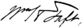 W.H.Taft Signature.png