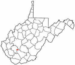 Location of Whitesville, West Virginia