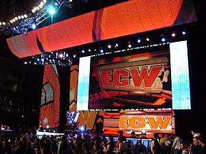 ECW (WWE) - ECW's version of the universal WWE HD set used from January 22, 2008-February 16, 2010.