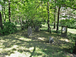 WWI cemetery Merzdorf (tombstones at entrance).png
