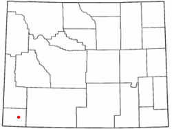 Location of Mountain View, Wyoming