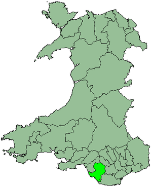 Ogwr - Image: Wales Ogwr 1974
