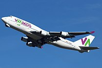 Wamos Air Boeing 747-400 (EC-KSM) takes off from Paris-Orly Airport.jpg