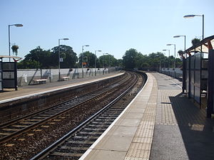 Wanstead Park railway station - Image: Wanstead Park stn look east