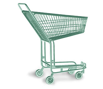 "Wanzl (Company) - ""Concentra"" model shopping trolley, 1957"