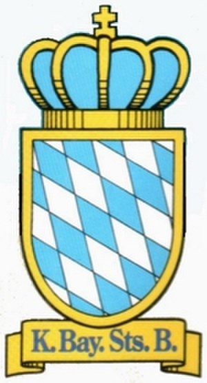 Ludwig South-North Railway - Insignia of the Royal Bavarian State Railways.