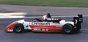 Warren Hughes - Hughes driving for Alan Docking Racing at Silverstone during the 1995 British Formula 3 Championship season.
