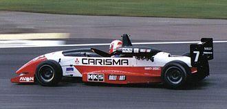Warren Hughes - Hughes driving for Alan Docking Racing at Silverstone during the 1995 British Formula 3 Championship season.