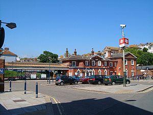 St Leonards Warrior Square railway station - Image: Warriors Squarefront