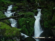 Waterfall in eastern Vosges mountains