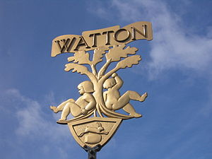 Watton, Norfolk - Image: Watton Town Sign