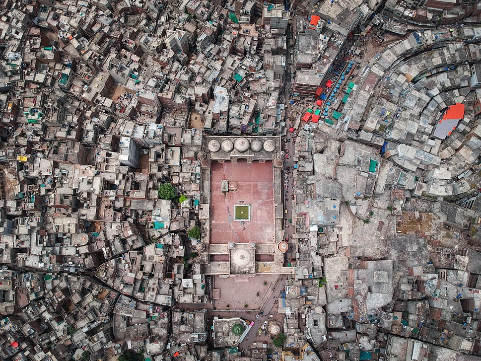 Wazir Khan Mosque - Aerial View