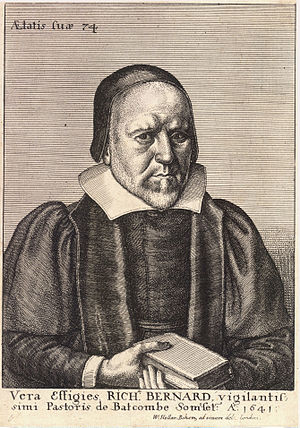 Richard Bernard - Engraving of Richard Bernard by Wenceslas Hollar