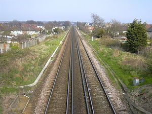 West Coastway line - Image: West coastway line from fishersgate