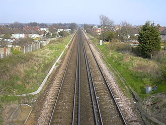 West Coastway line - Image: West coastway line from fishersgate