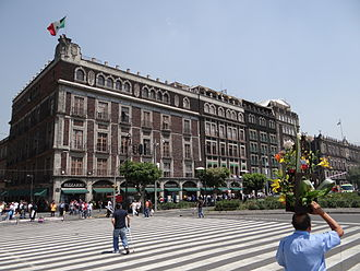 Old Portal de Mercaderes (Mexico City) - View of west side of Zocalo