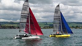 Weta trimaran on Lake Rotorua, New Zealand 2009.jpg
