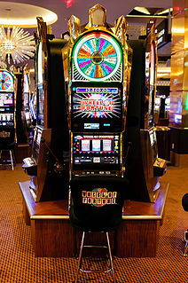 machine that allows gamblers to bet on the outcome of a video game