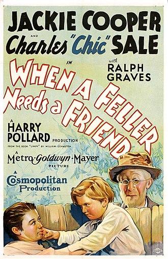 Harry A. Pollard - Poster for When a Feller Needs a Friend (1932)