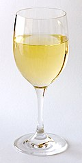glass of white, red wine