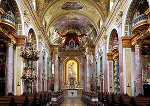 Jesuit Church, Vienna - Image: Wien Jesuitenkirche, Innenansicht