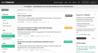 WikiTribune For-profit, user-curated news website