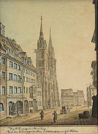 St. Lorenz, Nuremberg - Image: Wilder St. Lorenz Nürnberg 1852
