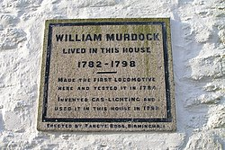 Photo of William Murdock white plaque