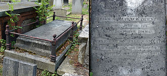 Thackeray's grave at Kensal Green Cemetery, London, photographed in 2014 William Thackeray grave Kensal Green 2014.jpg