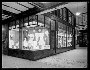 "Mary Alcorn - Window display at ""Liberty's Wellington"", ca 1932"