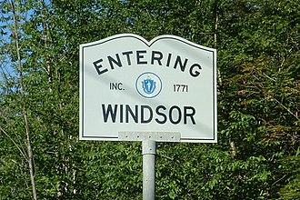 Windsor, Massachusetts - Entering Windsor