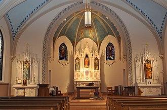 Winfield, Illinois - Image: Winfield.St John Baptist RC.1906Schaefer.Powe rs 02