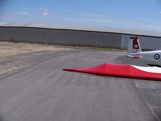 Wing tip - The wing tip of a Quad City Challenger II, formed with an aluminum bow