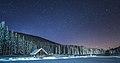 Winter cottage at night at Pokljuka 2.jpg