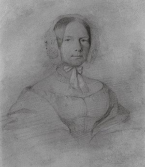 Maria Wodzińska - Anna Emilia Wiesiołowska, née Skarbek (1793-1873), sister of Fryderyk Skarbek and godmother of Fryderyk Chopin, by Wodzińska