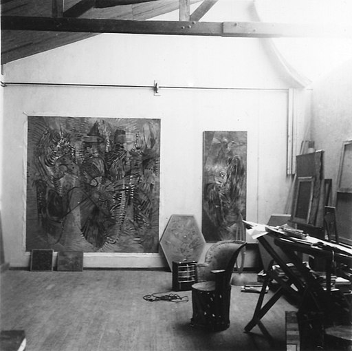 Wolfgang Paalen´s Studio in San Angel, Mexico, ca. 1946