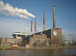 Volkswagen factory in Wolfsburg,Germany.