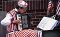 Woman playing accordion, July 4, 1987, Faneuil Hall Marketplace (8658247238).jpg