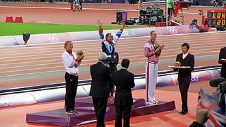 Athletics at the 2012 Summer Olympics – Women's heptathlon - Podium