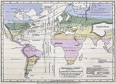 Isothermal map of the world