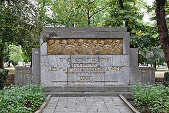 Chasseur - World War I memorial to the chasseurs à pied in Charleroi