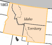 Idaho Territory before Edgerton's lobbying to the United States Congress and President Abraham Lincoln.