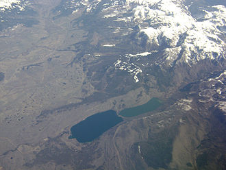 New Fork River - New Fork River and New Fork Lakes at the base of the Wind River Range