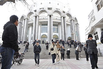 Lanzhou - Xiguan Mosque after a Friday Prayer