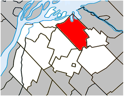Location within Pierre-De Saurel RCM.
