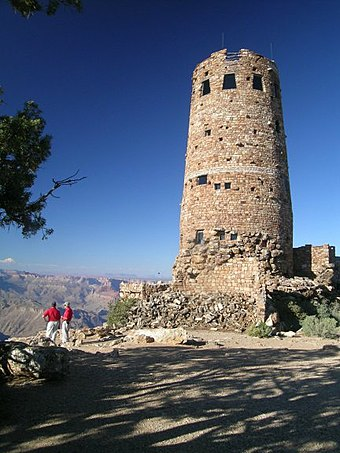 Desert View Watchtower in 2004 Yavapai Observation Station.jpg