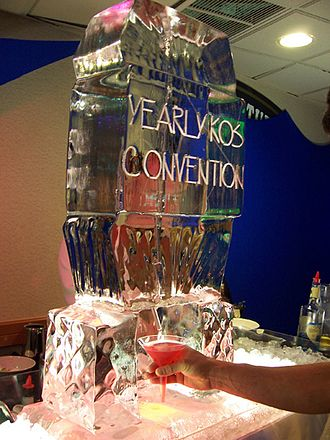 Netroots Nation - Ice sculpture at the first convention
