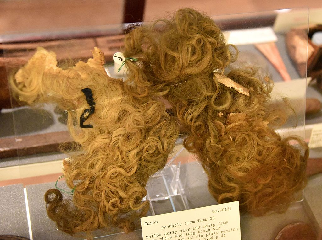 File Yellow Curly Hair And Scalp From Body Which Had Long