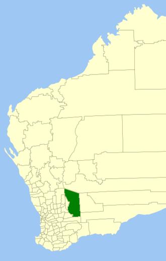 Shire of Yilgarn - Location in Western Australia